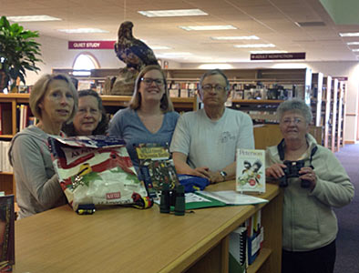 Birding Backpack Donation to Medford Library